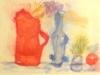 BROCCA,IRIS E ALTRE COSE-acquerello-collage-cm35x50-1989