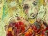 CERERE BIONDA-graffito-su-cera-cm-40x50-1990