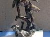 Caduta angeli ribelli-BRONZO PAT. CM.32X10X8 2013