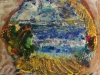 ATOLLO SUL PACIFICO-affresco-ceramico-cristalli-cm-40x43-2009