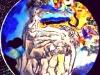 CACCIATA DALL'EDEN-ceramica-cristalli-cm-26x26