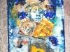CHANSON A TROIS POUR LA LUNE-ceramica-cristalli-cm-35x21x7-1989