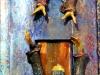 il-maestro-e-margherita-ceramica-raku-cristalli-legno-cm-134x44x15-2006